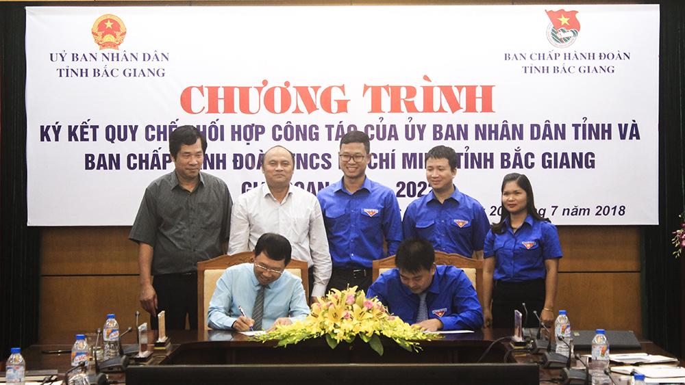 UBND tỉnh và Tỉnh đoàn ký kết quy chế phối hợp
